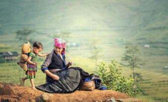 Une femme d'ethnie au nord du vietnam
