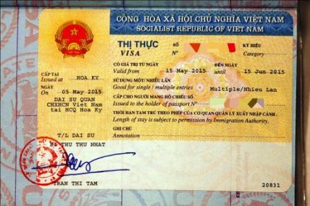 image d'un visa vietnam